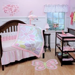 Nurture Imagination Crazy Daisy 3-piece Crib Bedding Set