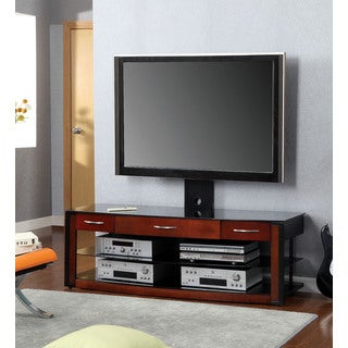 Otaci TV Console in Cherry & Black Finish