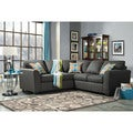 Bursa Sectional Sofa with Free Pillows in Gray Fabric