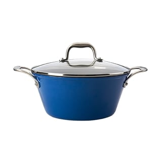 Guy Fieri Lightweight 5.5-quart Blue Cast Iron Dutch Oven