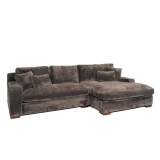 Doris 2-piece Smoke Sectional Sofa