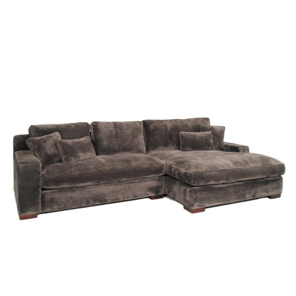 Designs Made To Order Audrey 3 Piece Ebony Sectional Sofa With Ottoman