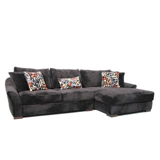 Alyssa Two-piece Ebony Sectional Sofa