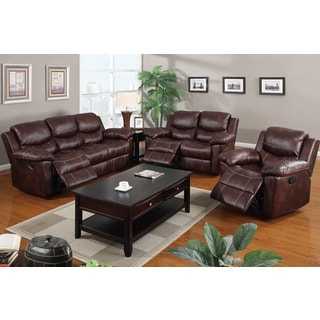 Kozani Recliner Motion Sofa Set Upholstered in Padded Leatherette