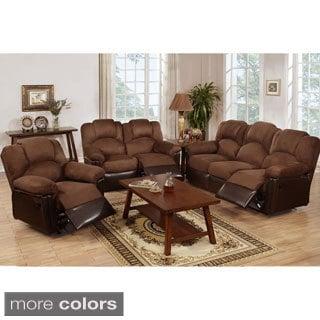 aruba microfiber dual reclining sofa chocolate reviews deals