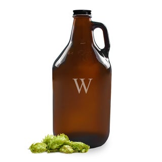 Personalized 64-ounce Amber Growler