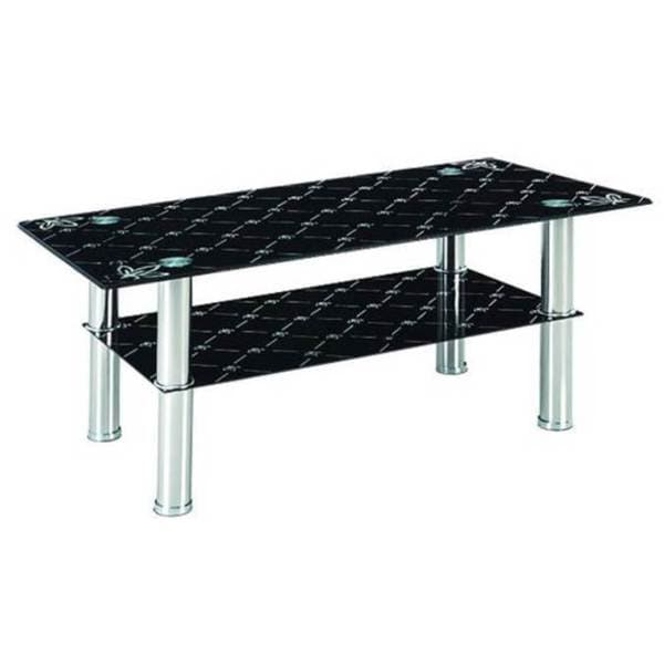 Black tempered glass top coffee table 16248074 for Tempered glass coffee table