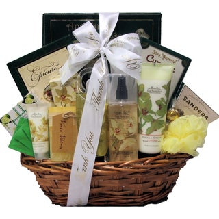 Vanilla Orchid Spa Luxuries Administrative Professionals Day Bath and Body Spa Gift Basket