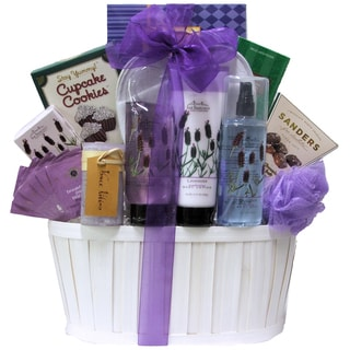 Lavender Spa Pleasures Bath and Body Gift Basket