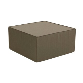 Softblock 30-inch Taupe-upholtered Foam Ottoman