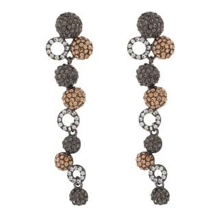 NEXTE Jewelry Tri-color Stone Long Dangle Earrings