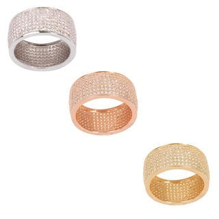 NEXTE Jewelry Seven-row Micro Pave-set Cubic Zirconia Eternity Ring