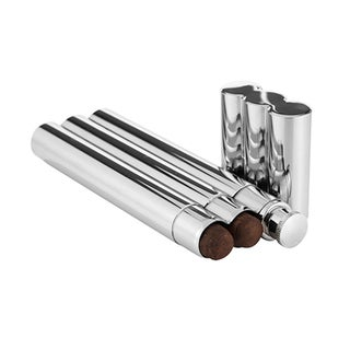 Double Cigar Holder with Flask