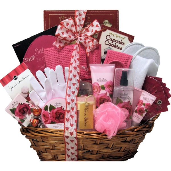 Rose Spa Haven Bath and Body Spa Gift Basket