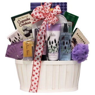 Lavender Spa Pleasures Bath and Body Spa Gift Basket