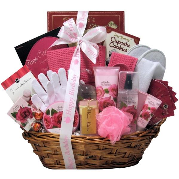 Rose Haven Birthday Bath and Body Spa Gift Basket