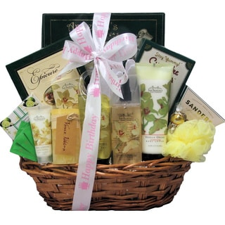 Vanilla Orchid Spa Luxuries Birthday Bath and Body Spa Gift Basket