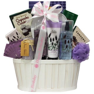 Lavender Spa Pleasures Birthday Bath and Body Spa Gift Basket