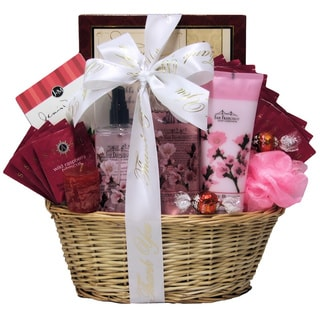 Cherry Blossom Spa Retreat Administrative Professionals Day Gift Basket