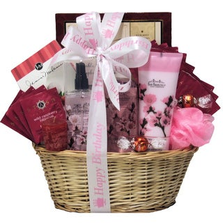 Cherry Blossom Spa Retreat Birthday Gift Basket