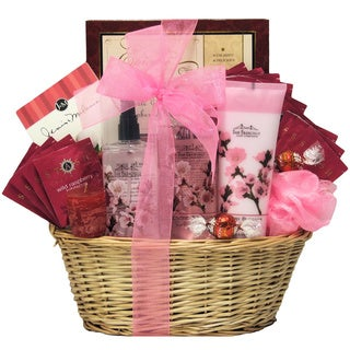 Cherry Blossom Spa Retreat Bath and Body Spa Gift Basket