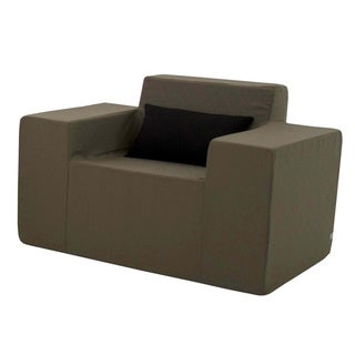 Softblock Taupe Upholstered Foam Outdoor Arm Chair