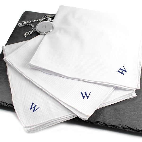 Personalized Hand-rolled 3-piece Men's Hankies
