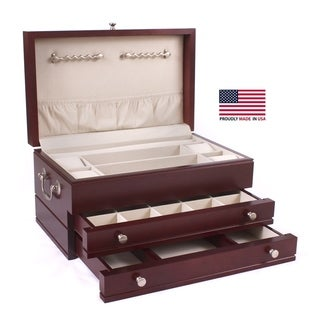 American Chest First Lady Rich Mahogany Jewelry Box