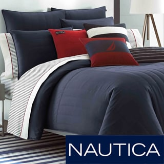 Nautica Mainsail Navy Reversible Comforter Set with Optional Euro Sham Sold Seperately