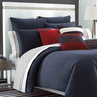 Nautica Mainsail Navy 3-piece Reversible Comforter Set