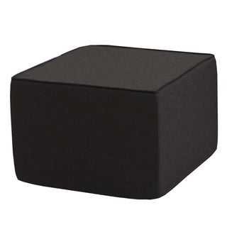 Softblock 22-inch Black-upholstered Outdoor Foam Ottoman