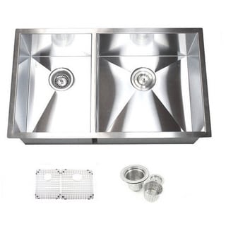 32-inch Double Bowl 40/60 Undermount Zero Radius Kitchen Sink Basket Strainer / Grid Accessories