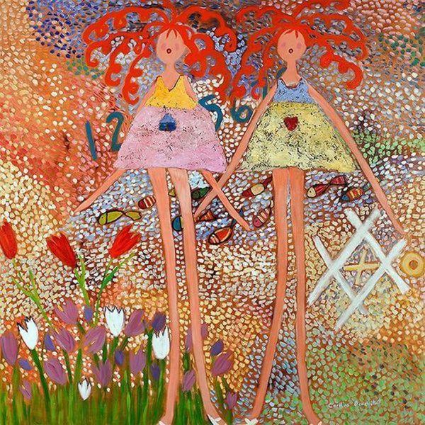 Caroline Benchetrit 'Across the Universe' Canvas Art