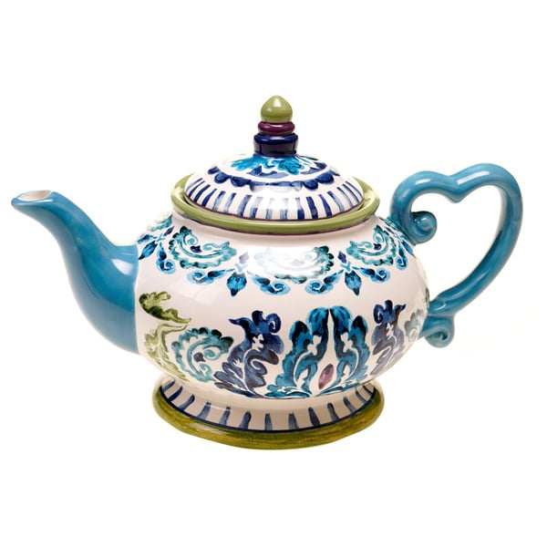 Certified International Mood Indigo 32-ounce Teapot