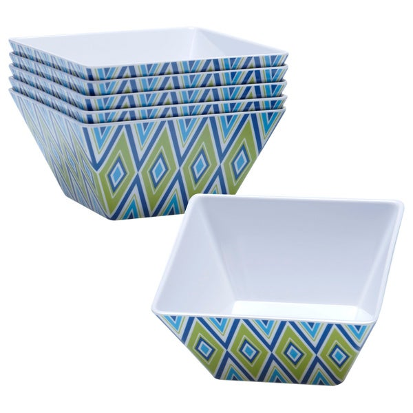 Certified International Mediteranean Melamine Ice Cream Bowl (Set of 6)