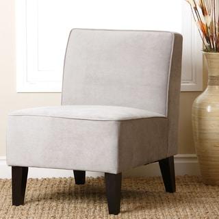 ABBYSON LIVING Grey Becca Velvet Chair
