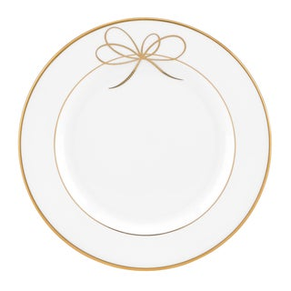 Gold bow bread and butter plate