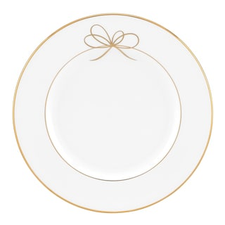 Gold Bow Salad Plate