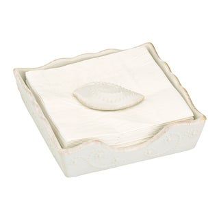 French Perle White Napkin Holder