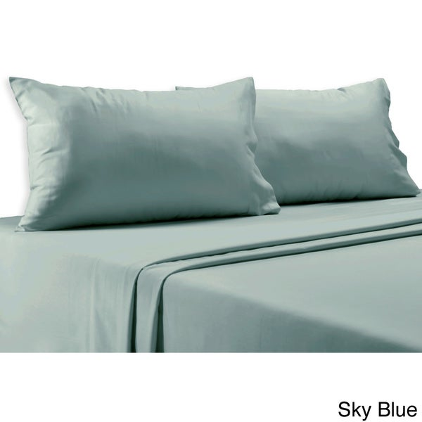 800 Thread Count Cotton Blend Solid 6-piece Sheet Set