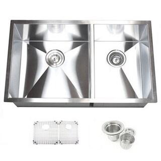 32-inch Double Bowl 60/40 Undermount Zero Radius Kitchen Sink Basket Strainer / Grid Accessories