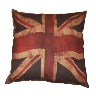 Vintage British Flag Throw Pillow