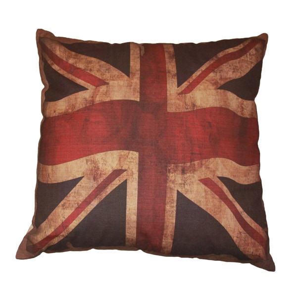 Vintage British Flag Throw Pillow