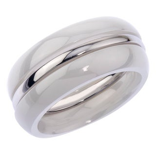 Sterling Silver/ Ceramic Stack Band