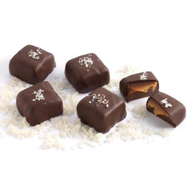 Amella Gray Sea Salt Dark Chocolate Caramels (Case of 15)