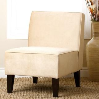 ABBYSON LIVING Beige Becca Velvet Chair
