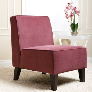 Abbyson Living Purple Becca Velvet Chair