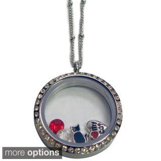 Gold or Silver Living Locket and Charms Set