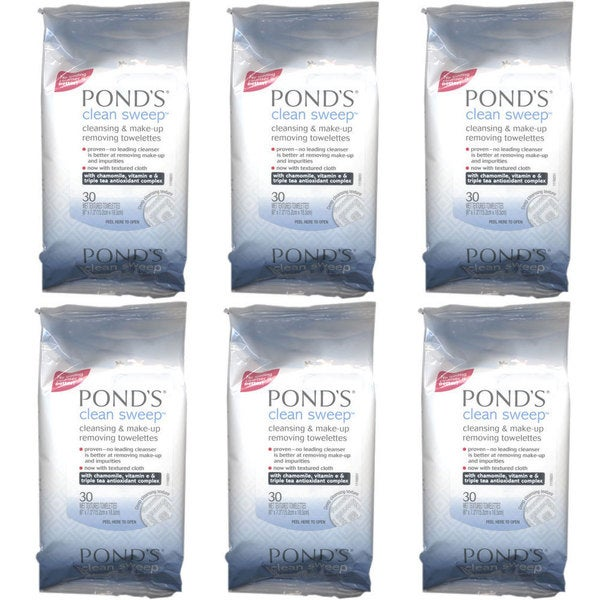 Pond's Clean Sweep 30-count Makeup Removing Towelettes (Pack of 6)