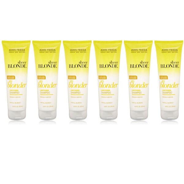 John Frieda Sheer Blonde Go Blonder Lightening 8.45-ounce Shampoo (Pack of 6)